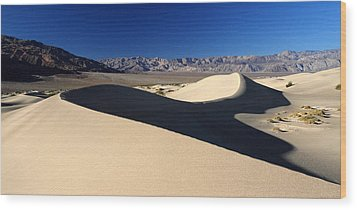 Mesquite Sand Dunes In Death Valley National Park Wood Print by Pierre Leclerc Photography