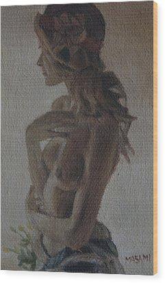 Modesty Wood Print by Masami Iida
