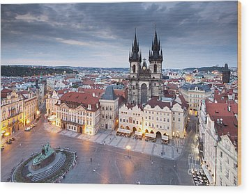 Prague Old Town Square Wood Print by Andre Goncalves
