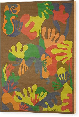 Untitled Wood Print by Teddy Campagna