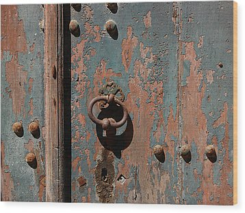 14th Century Door In France Wood Print by Marion McCristall