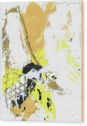 Three Color Palette Wood Print by Michal Mitak Mahgerefteh