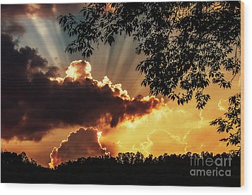 Wood Print featuring the photograph Appalachian Sunset by Thomas R Fletcher