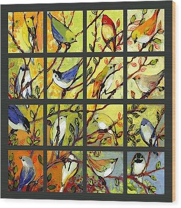16 Birds Wood Print by Jennifer Lommers