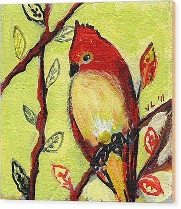 16 Birds No 3 Wood Print by Jennifer Lommers