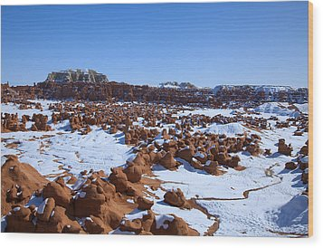 Goblin Valley Wood Print by Mark Smith