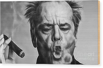 Jack Nicholson Collection Wood Print