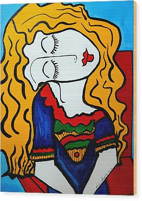 Shy Girl Picasso By Nora Wood Print