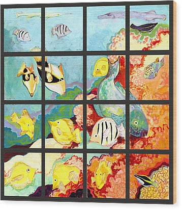 17 Fish Wood Print by Jennifer Lommers