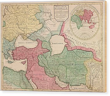 1712 French Map Of Southwest Asia Wood Print by Everett