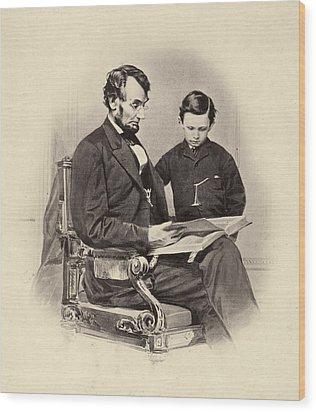 Abraham Lincoln (1809-1865) Wood Print by Granger