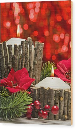 Wood Print featuring the photograph Autumn Candles by Ulrich Schade
