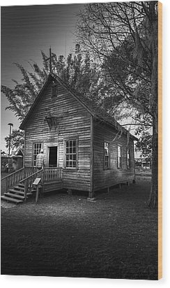1800's Florida Church Wood Print by Marvin Spates