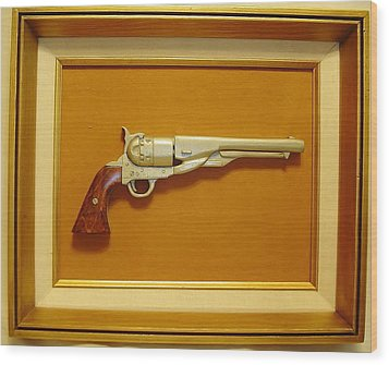 1851 Colt Wood Print by Russell Ellingsworth