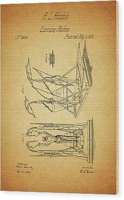 1853 Exercising Machine Patent Wood Print by Dan Sproul