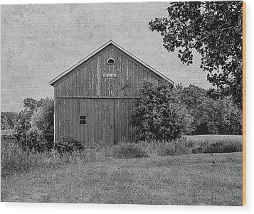 Wood Print featuring the photograph 1869 Black And White by Kim Hojnacki