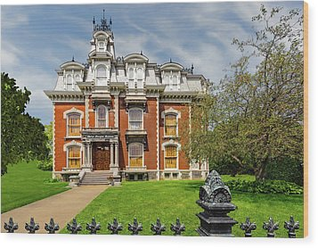 Wood Print featuring the photograph 1870 Sherman D Phelps Residence   -   1870phelpsmansion172424 by Frank J Benz