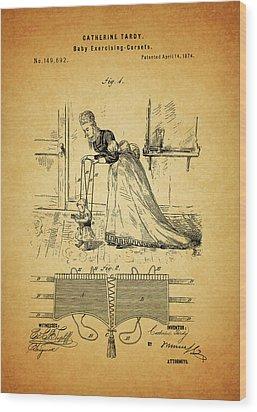 1874 Baby Exercising Corset Wood Print by Dan Sproul