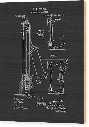 1885 Exercise Apparatus Wood Print by Dan Sproul