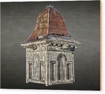 Wood Print featuring the photograph 1886 Empire State Winery Cupola  -  1886empirewinerycupola172237 by Frank J Benz