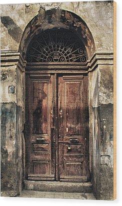 1891 Door Cyprus Wood Print by Stelios Kleanthous