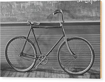 Wood Print featuring the photograph 1895 Bicycle by Joan Reese