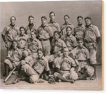 1896 Michigan Baseball Team Wood Print