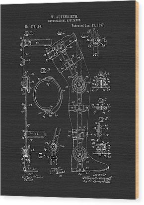 1897 Artificial Leg Patent Wood Print by Dan Sproul