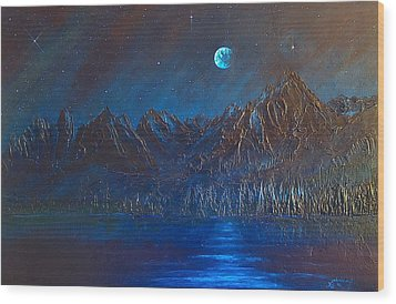Wood Print featuring the painting Cosmic Light Series by Len Sodenkamp