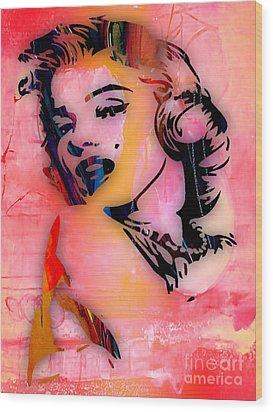 Marilyn Monroe Collection Wood Print