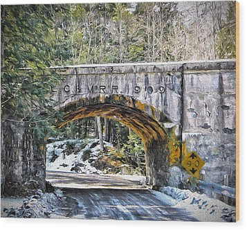 1909 Country Backroad Train Overpass Wood Print