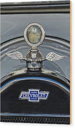 1915 Chevrolet Touring Hood Ornament 2 Wood Print by Jill Reger