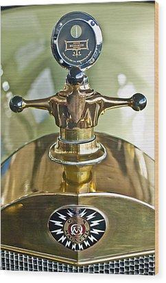 1917 Owen Magnetic M-25 Hood Ornament 2 Wood Print by Jill Reger