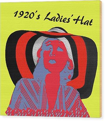 1920s Ladies Hat Wood Print by Bruce Iorio