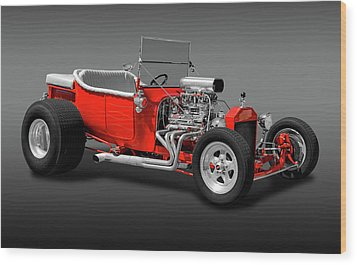 Wood Print featuring the photograph 1923 Ford T-bucket Roadster  -  1923fordtbucketfa170588 by Frank J Benz