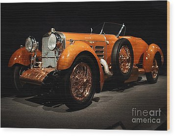 1924 Hispano Suiza Dubonnet Tulipwood . Front Angle Wood Print by Wingsdomain Art and Photography