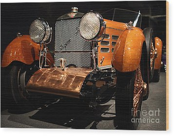 1924 Hispano Suiza Dubonnet Tulipwood . Grille Angle Wood Print by Wingsdomain Art and Photography