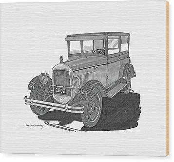 1925 Jewett 2 Door Touring Sedan Wood Print