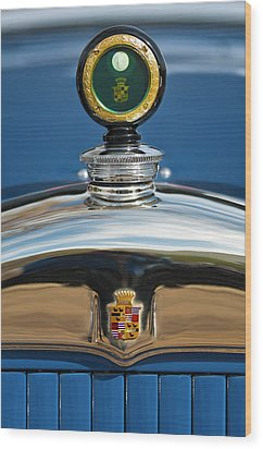 1926 Cadillac Series 314 Custom Hood Ornament Wood Print by Jill Reger