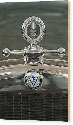 1926 Dodge Woody Wagon Hood Ornament Wood Print by Jill Reger