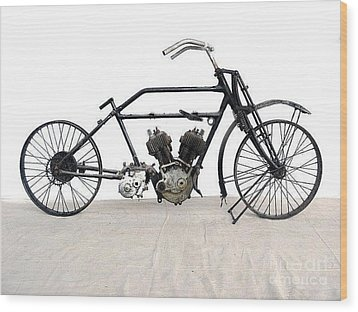 Wood Print featuring the photograph 1926 James Model V Twin by Pg Reproductions