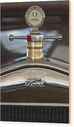 1927 Ford T Roadster Hood Ornament Wood Print by Jill Reger