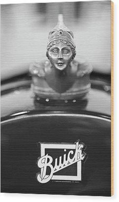 1928 Buick Custom Speedster Hood Ornament 4 Wood Print by Jill Reger