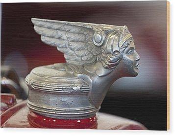1928 Buick Custom Speedster Hood Ornament Wood Print by Jill Reger