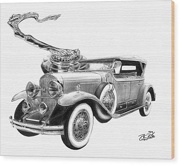 1929 Cadillac  Wood Print