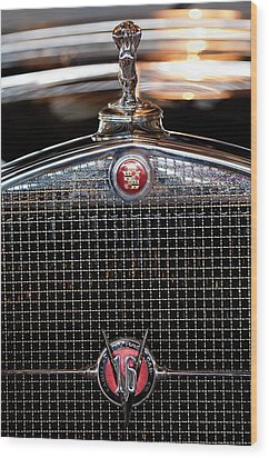 1930 Cadillac Roadster Hood Ornament 3 Wood Print by Jill Reger
