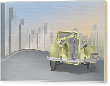 1930's Plymouth Sedan Wood Print