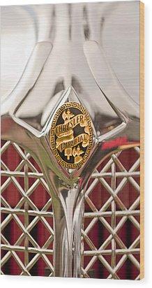 1931 Chrysler Cg Imperial Lebaron Roadster Grille Emblem Wood Print by Jill Reger