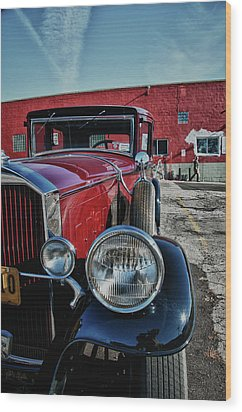Wood Print featuring the photograph 1931 Pierce Arow 3473 by Guy Whiteley