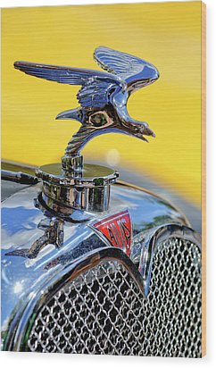 1932 Alvis Hood Ornament Wood Print by Jill Reger